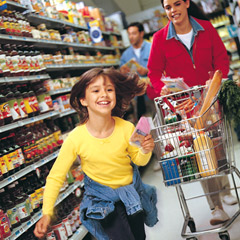 grocery-shopping with kids