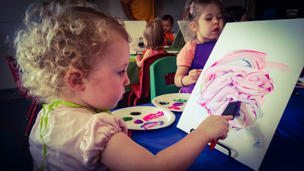 kids in art party
